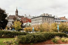 Landscape view of Old Montreal, Quebec, Canada stock image