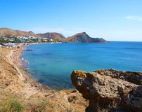 Landscape view of Orjonikidze, Crimea, Ukraine Royalty Free Stock Photo