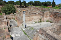 Landscape view of Ostia Antica Royalty Free Stock Images