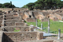 Landscape view of Ostia Antica Royalty Free Stock Photo