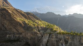 Landscape view from Pakistan country near Gilgit city at day time. stock photo