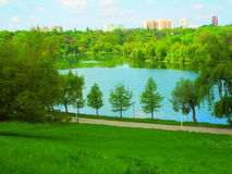 Landscape view from Park Youth Bucharest Royalty Free Stock Image