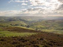 Landscape view of the peak district near stanage edge in great b stock photos