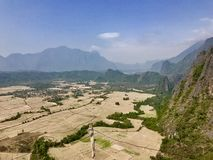 Landscape view of Pha Ngeun Vang Vieng, Laos.  stock photos