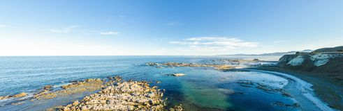 Landscape view from the Point Kean Viewpoint, Kaikoura New Zealand. Royalty Free Stock Images