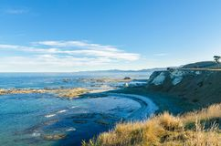 Landscape view from the Point Kean Viewpoint, Kaikoura New Zealand. Royalty Free Stock Photos