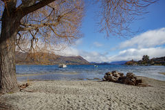 Landscape view point of lake wanaka important traveling destinat Stock Photo