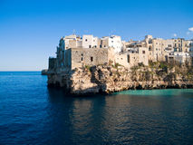 Landscape view of Polignano. Apulia. stock photography