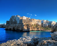 Landscape view of Polignano. Apulia. stock image