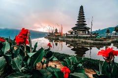 Landscape view of Pura Ulun Danu Beratan the Floating Temple in Bali , Indonesia in morning