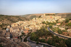 Landscape view of Ragusa, Sicily Royalty Free Stock Photography