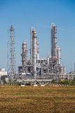 Landscape view of Refinery tower of oil and refinery plant Royalty Free Stock Photography