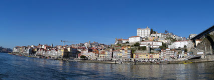 Landscape view Ribeira district, Porto, Portugal Stock Images
