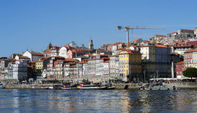 Landscape view of the Ribeira district, Porto, Portugal Stock Images