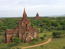 Landscape view with the river. And two buddhist temples - Bagan - Myanmar Stock Images