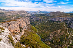 Landscape view of river and Canyon du Verdon, Provence Stock Photos