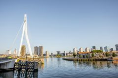 Rotterdam city in Netherlands Royalty Free Stock Photography