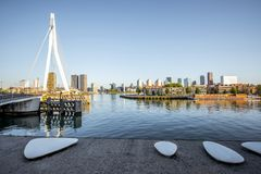 Rotterdam city in Netherlands Royalty Free Stock Photo