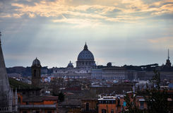 Landscape view of Rome Royalty Free Stock Image
