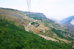Landscape view from ropeway altitude Stock Image