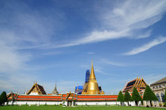 Landscape view of Royal Grand Palace, Bangkok Thailand. Royalty Free Stock Photography
