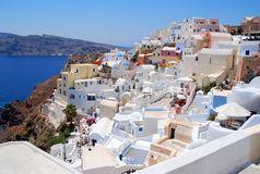 Landscape view in Santorini Royalty Free Stock Images