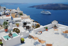 Landscape view in Santorini Stock Image
