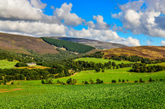 Landscape view of Scottish highlands meadows Stock Photo