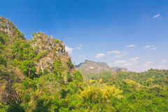 Landscape view of sierra and tropical rainforest valley Royalty Free Stock Image