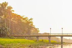 Landscape view of a small village near river bank of Kumari , Mukutmanipur Dam in Purulia West Bengal India. A beautiful landscape royalty free stock photo