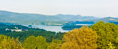 Landscape. View of the Solina lake Stock Photo