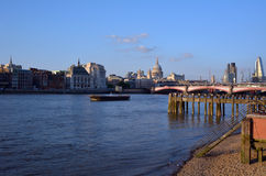 Landscape view of St Pauls Cathedral and the and London bridge w Stock Photos