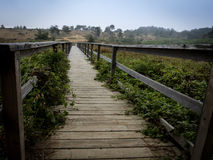 San Simeon boardwalk royalty free stock image
