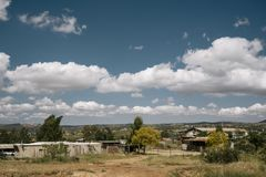 Mexican Country Side with Clouds stock photos