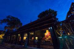 Landscape view of the temple that contain the Buddha statue at W Royalty Free Stock Photos