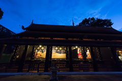 Landscape view of the temple that contain the Buddha statue at W Royalty Free Stock Photo