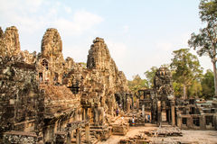 Landscape view of the temples at Angkor Wat, Siem Reap, Cambodia Royalty Free Stock Images