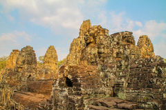Landscape view of the temples at Angkor Wat, Siem Reap, Cambodia Royalty Free Stock Photography