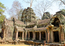 Landscape view of the temples at Angkor Wat, Siem Reap, Cambodia Royalty Free Stock Photo