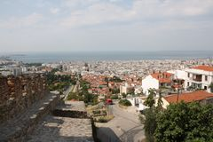 Landscape view of Thessaloniki city. Center, Greece stock images