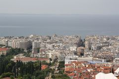 Landscape view of Thessaloniki city. Center, Greece royalty free stock photos