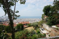 Landscape view of Thessaloniki city. Center, Greece stock photos