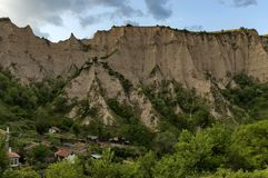 Landscape view to ancient Melnik town Stock Photography