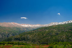 Landscape view to mountains and Kadisha Valley aka Holy Valley , Lebanon. Landscape view to mountains and Kadisha Valley aka Holy Valley in Lebanon Royalty Free Stock Photography