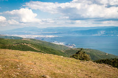 Landscape view to the Sea of Marmara and Derice in Turkey Royalty Free Stock Photography
