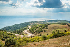 Landscape view to the Sea of Marmara in Turkey Stock Photography