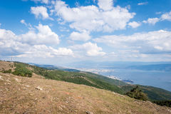 Landscape view to the Sea of Marmara in Turkey Stock Image