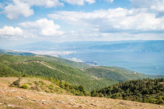 Landscape view to the Sea of Marmara in Turkey Royalty Free Stock Image