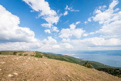 Landscape view to the Sea of Marmara in Turkey Royalty Free Stock Photos