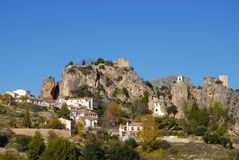 Landscape view to the Spanish village of Guadalest. royalty free stock photo